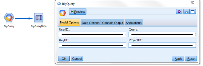 Connect Google BigQuery to IBM SPSS Modeler using JDBC with R - SPSS